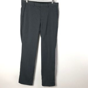 New Calvin Klein Dress Pants Gray 32x30 Flat Front